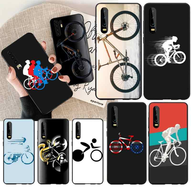 Nbdruicai Mountainbike Cover Black Soft Shell Telefoon Case Voor Huawei P30 P20 Mate 20 Pro Lite Smart Y9 Prime 2019