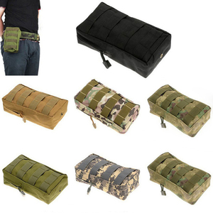 Outdoor Running Bag 1000D Waterproof Tactical Waist Bag Camping Hiking Utility Pouch EDC Keys Phone Holder Backpack Attached