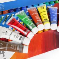 15ML Acrylic Paint Set Color Paint For Fabric Clothing Glass Drawing Painting 12/24 Colors For Kids Waterproof Art Supplies