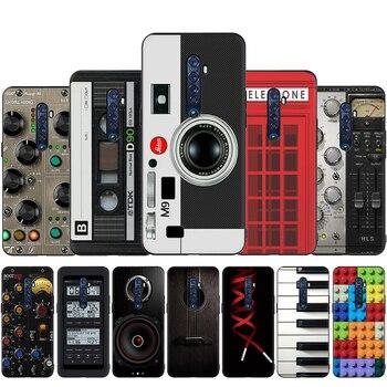 Перейти на Алиэкспресс и купить Ретро Камера кассета ленты калькулятор чехол для клавиатуры для OPPO Reno Z 10X Ace 2Z 2F 3 Pro Realme 2 A5 3 5 Pro Q X2 XT X50 X Lite
