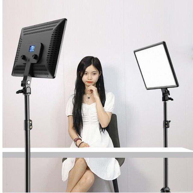 14inch 10inch LED Video Lighting Panel EU Plug 3200K-6000K Photography Lighting Remote Control For Live Stream Photo Studio Lamp 1