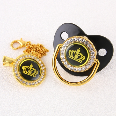 7 cores golden crown bling chupeta