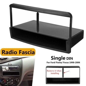 1 Din автомобильное Стерео Радио DVD-плеер панель аудио отделка рамка для Ford Fiesta Focus 1998 - 2006