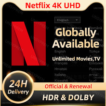 Netflixes Pre-mium 4K UHD ACC 1-5 screens Android APK Service Worldwide