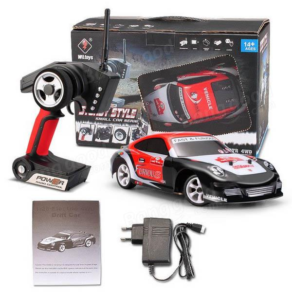 WLtoys K969 1/28 2.4G 4WD High Speed RC Racing Car 4 Channles Brushed Drift Remote Control Car