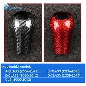 Image 5 - Airspeed Real Carbon Fiber voor Mercedes Benz G E C Klasse CLS Accessoires voor Mercedes W204 W212 Interieur Trim gear Shift Cover