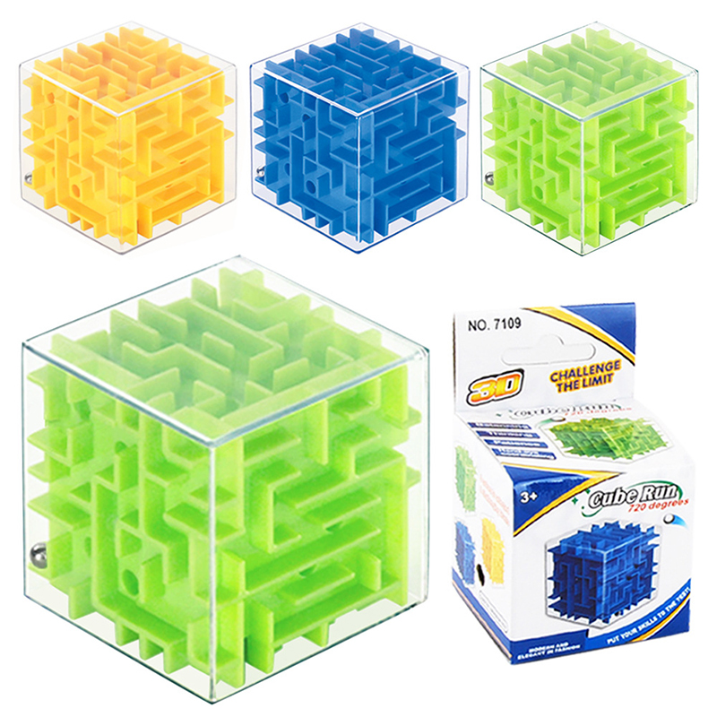 3D Mini Speed Cube Maze Magic Cube Puzzle Game Cubos Stress Relief Cube Toys Labyrinth Rolling Ball Toys For Chilren Adult