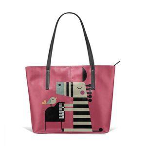 Image 5 - البيانو حقيبة يد البيانو أعلى حقائب بيد المتسوق سعة كبيرة حقيبة الجراب الجلدية حقيبة طباعة في سن المراهقة المرأة العصرية حقائب اليد