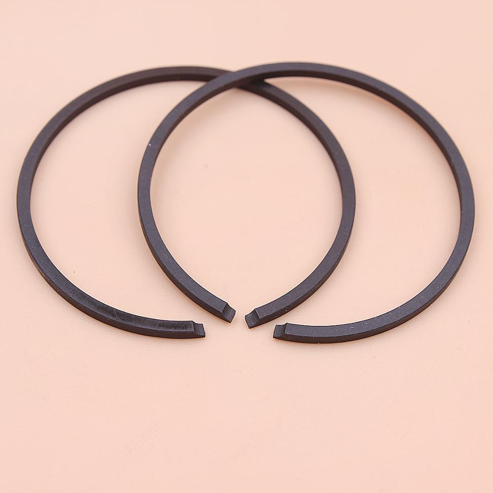 2pcs/lot 37mm X 1.5mm Piston Rings For Stihl Solo Echo Shibaura Tanaka Chainsaw Strimmer Trimmer Mower Engine Part