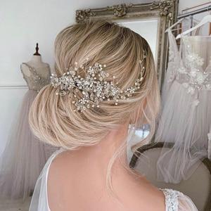 Image 2 - Strass Kralen Hoofdband Bruids Tiara Haaraccessoires Haarband Bruiloft Haar Sieraden Hoofddeksel Vrouwen Accessoires Tiara