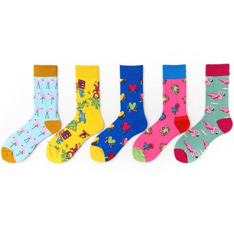 Men's Socks hip hop Autumn winter Retro Breathable cotton Harajuku retro Female Socks Funny Socks Unisex socks  gifts for men