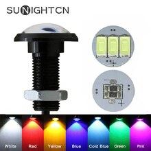 SUNIGHTCN 1 шт., светодиодный светильник в виде Орлиного глаза для автомобиля, дневные ходовые огни DRL, автомобильная парковочная сигнальная лампа, 12 В, 24 В, 18 мм, 23 мм, для мотоцикла, авто