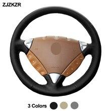 Hand Sewing Car Steering Wheel Cover Wrap Volant Funda Volante For Porsche Cayenne 2006 2007 2008 2009 2010 Auto Accessories