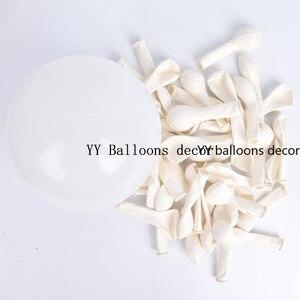Image 5 - Globo de color blanco y rosa Pastel para bebé, juego de arco de macarrón, boda, despedida de soltera, fiesta, fondo, decoloración, pared, orgánico, 1