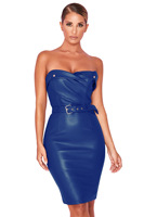 Hot Selling PU Leather Nightclub Skirt Hot Selling New Products WOMEN'S Dress Tube Top Dress 2749