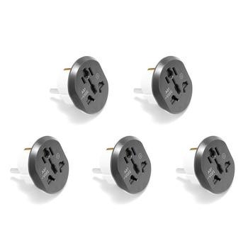 5PCS High Quality Universal EU European KR Plug Adapter US AU UK To EU Euro Travel Plug AC Adapter Power Cables Socket Outlet homegeek eu plug