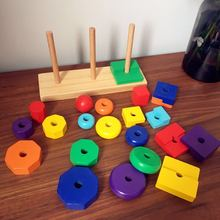 Shape Learning Toys For Children Early Educational Game With Kids Toys Wooden Montessori Color