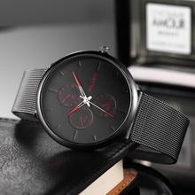 цена на New Watches Men 2019 Male Quartz Wristwatches Top Brand Luxury Ultra Thin Mesh Steel Clock Man Waterproof Creative Watch For Men
