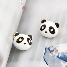 Fashion Panda Earrings Lovely Animal earrings cute Earrings for girl women Fashion Jewelry wholesale(China)