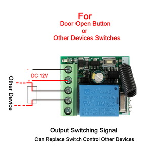 Image 4 - Rubrum 433 MHz DC 12V 1CH RF Remote Control Transmitter + Universal RF Relay Receiver Module For Light Garage Door Opener Key