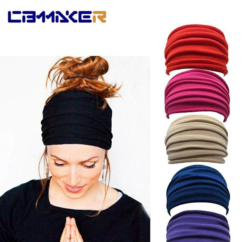 1 предмет, однотонное Цвет фитнеса для занятий йогой, повязка на голову с нескользящей подошвой для пар с эластичной резинкой эластичная пов...