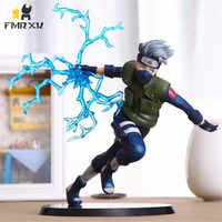 FMRXK 22cm Naruto Kakashi Sasuke PVC Action Figure Anime Puppen Spielzeug Modell Schreibtisch Sammlung Für Kits Chich