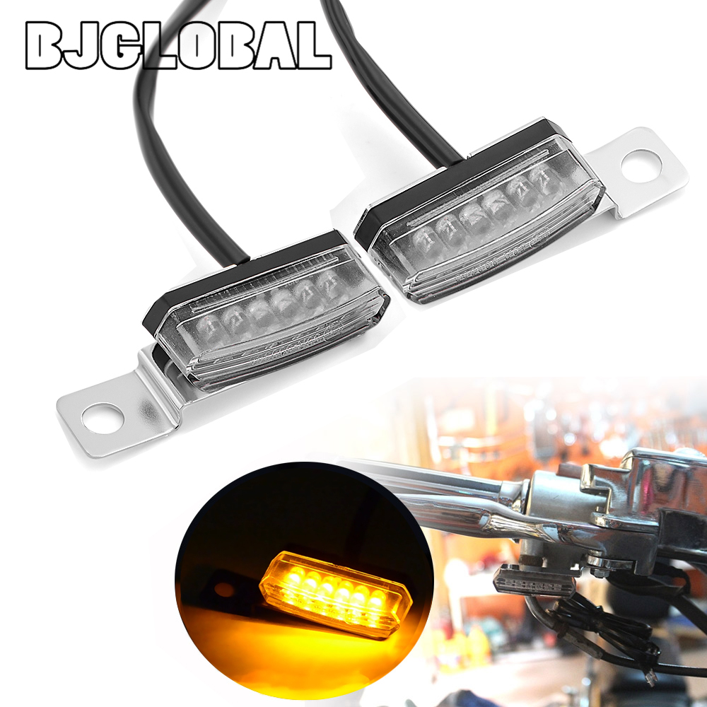 2pcs Mini LED Motorcycle Blinker Flashing Light Motorcycle Turn Signal LED Indicator Light Moto Flasher Signal Lamp Scooter ATV