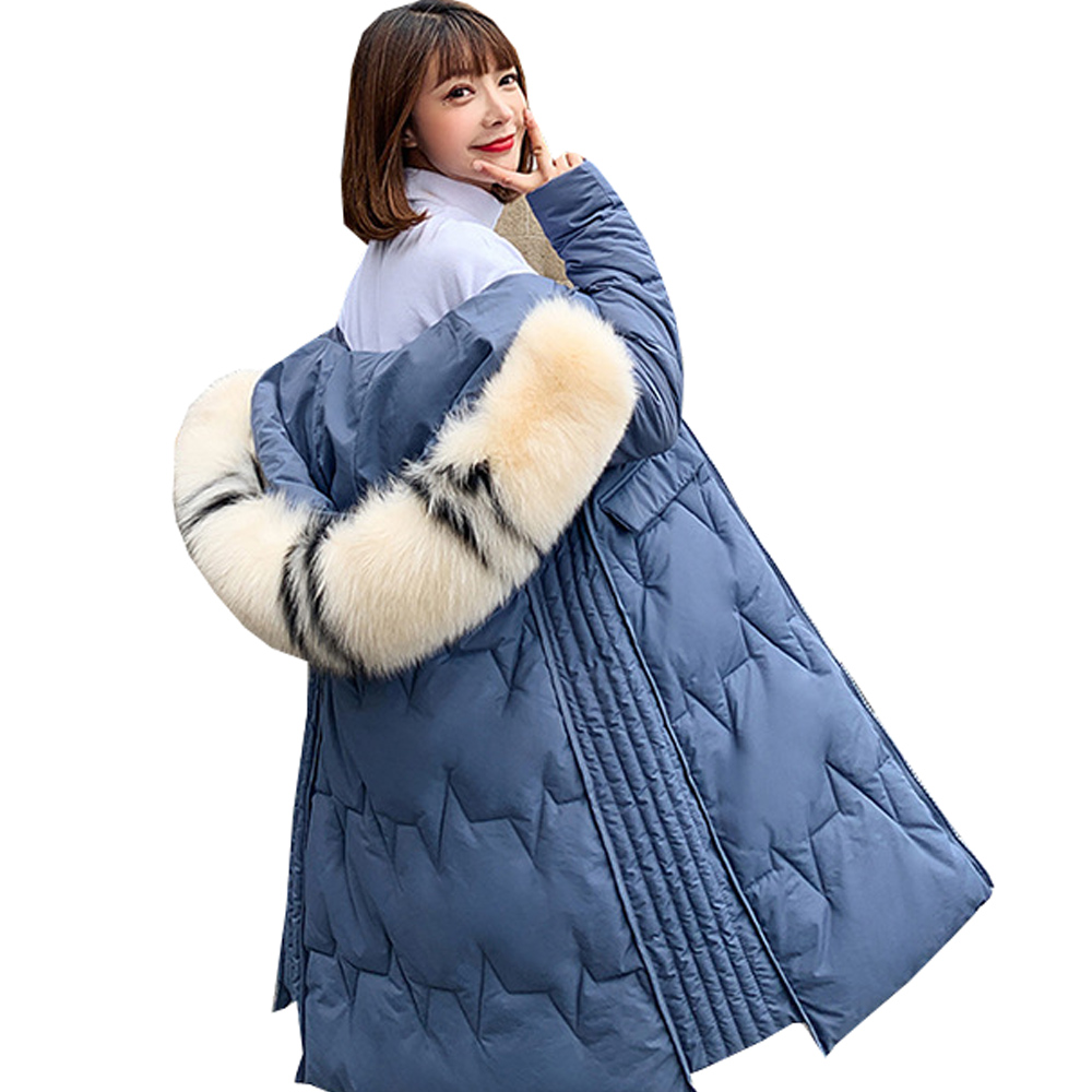 Hot sale Warm Winter Jacket Women   Parkas   Down   parka   woman large hair collar down jacket women's jacket winter 801