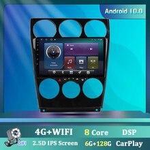 Rádio do carro para mazda 6 gps de navegação estéreo áudio vídeo acessórios android 9.0 wifi carplay dsp 9 Polegada 2 din sem cd dvd player