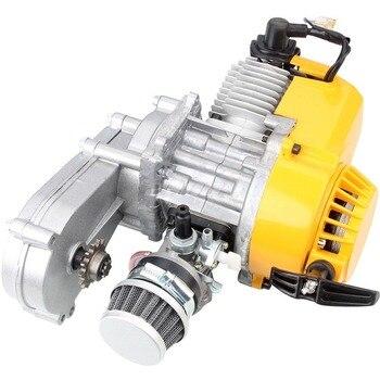 Silnik motocyklowy dwusuwowy zmodyfikowany wersja 49CC pojedynczy cylinder chłodzony powietrzem dla Mini kieszeń Dirt pitbike ATV Quad 4 koła
