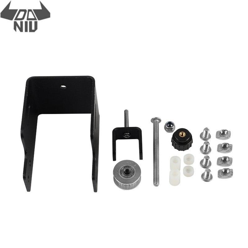 DANIU Black Upgraded  Aluminum Alloy Y-axes Metal Profile Timing Belt Tensioner Kit For Ender-3 Pro 3D Printer