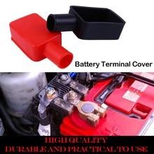 2xPVC батарея терминал Автомобильный зажим аккумулятора Защитная крышка положительные и отрицательные сапоги для термозащиты протектор для автомобилей для лодок, грузовиков