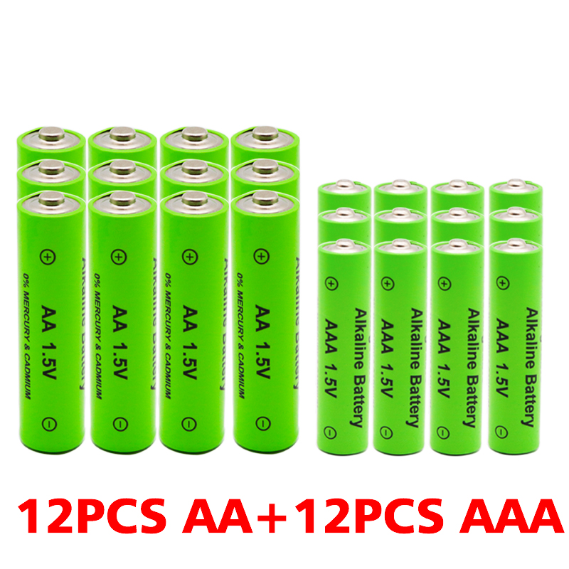 AA + AAA 100% New 1.5V Rechargeable AA Battery AAA Alkaline 3800-3000mah For Torch Toys Clock MP3 Player Replace Ni-Mh Battery image