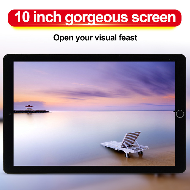 NEW Upgraded Android 9.0 Tablet 10.1 Inch  6G+128GB Wifi Tablet Dual Sim Card Call Phone Bluetooth Game Tablet for Kids 2