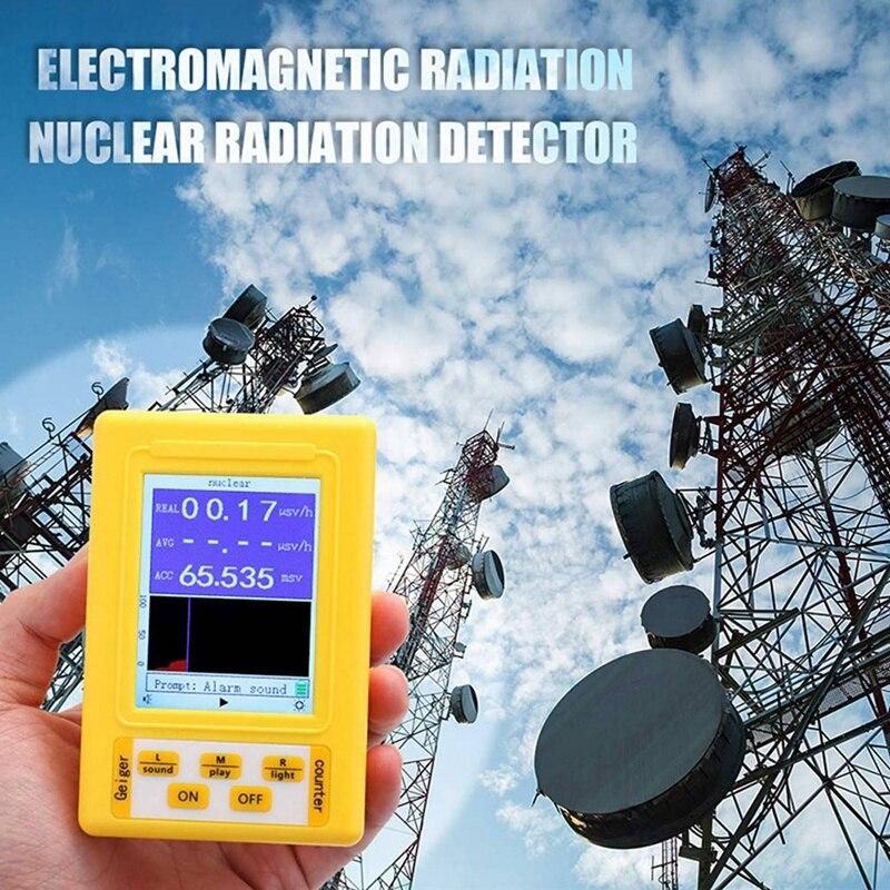 EASY-BR-9C 2-в-1 Ручной Портативный цифровой Дисплей электромагнитного излучения детектор ядерного излучения счетчик Гейгера полный весело