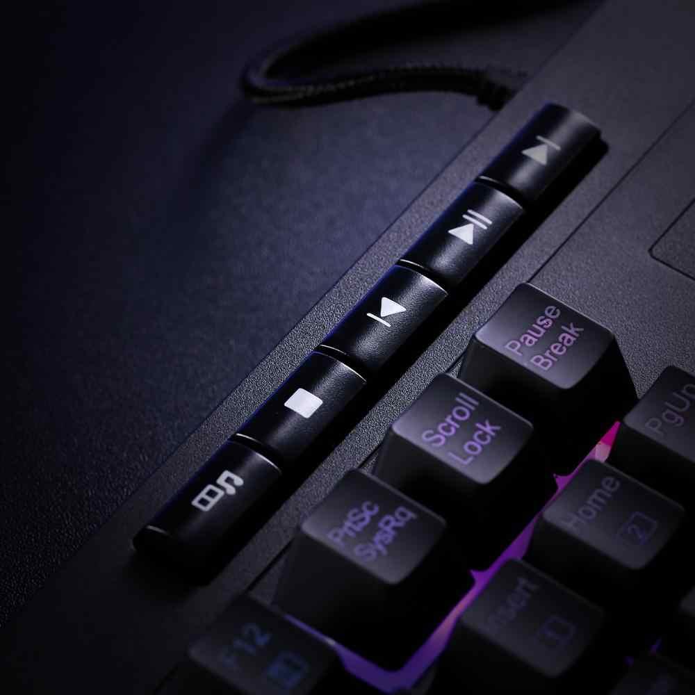 Redragon K512 Shiva RGB لوحة مفاتيح للألعاب ذات غشاء خلفي مع مفاتيح متعددة الوسائط ، 6 مفاتيح ماكرو إضافية على اللوحة ، التحكم في الوسائط