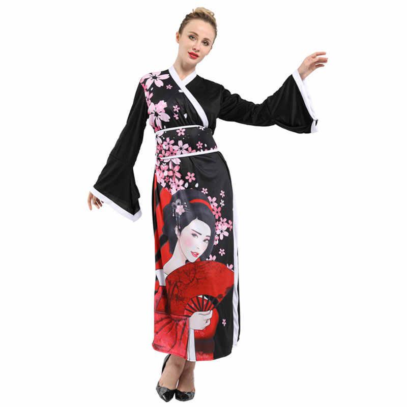 Costume Halloween Geisha.Japanese Kimono Robe Japan Geisha Costume For Adult Women Halloween Carnival Mardi Gras Party Fancy Dress Beauty Print Aliexpress