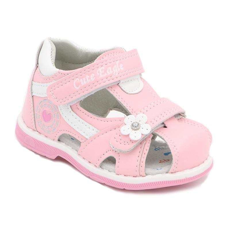 Girls Sandals Summer Flowers Sweet Soft Children's Beach Shoes  Toddler Girls Sandals Orthopedic Princess Fashion High Quality