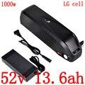 52v 14ah 500W 750W 1000W литиевый аккумулятор 51 8 V 52V 13ah 10ah 13.6ah 17ah литий-ионный Электрический велосипед батарея использовать LG сотовый