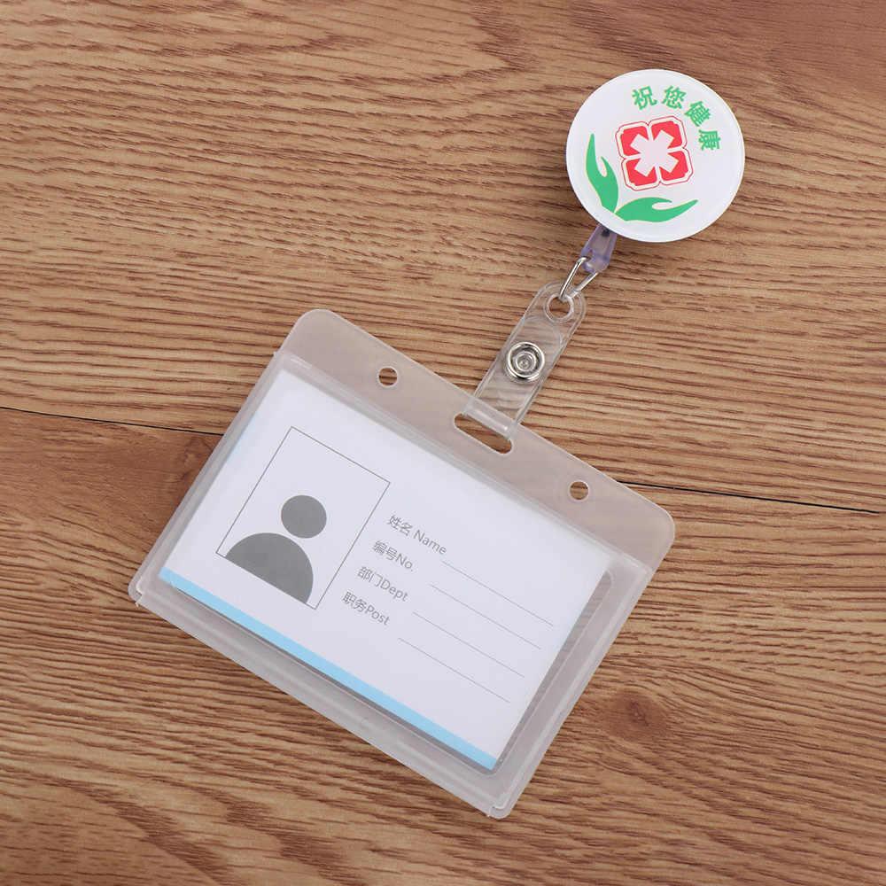 1 Bộ Hoạt Hình Dễ Thương Kinh Doanh Làm Thẻ Thẻ Tên Y Tá Bác Sĩ ID Huy Hiệu Ngăn Đựng Có Thể Thu Máy Có Thể Thu Vào Kim Loại Kẹp
