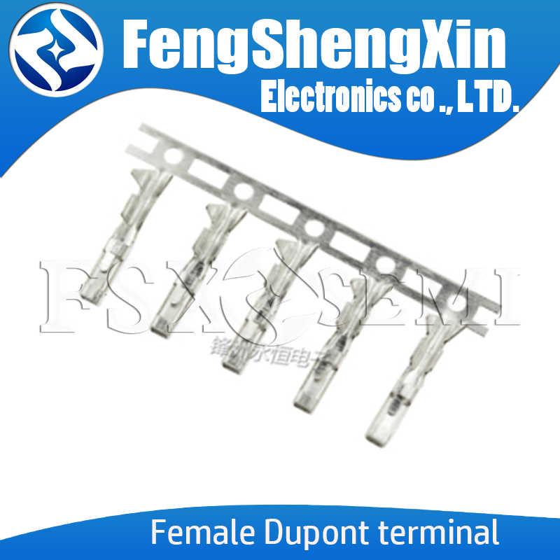 Dupont terminal 2.54mm para metade ouro chapeado dupont conector precisa tinniness cobre metal terminal fêmea ou macho pino