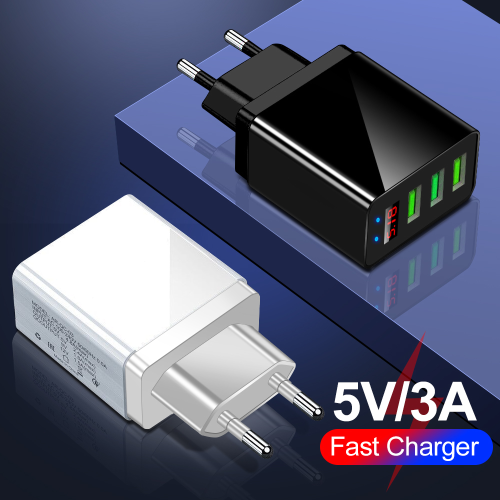 Mobile-Phone-Charger Display Fast-Charging-Wall-Adapter Digital Huawei iPhone Xiaomi title=