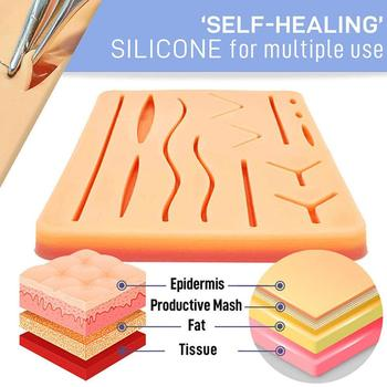 Suture Training Kit Skin Operate Suture Practice Model Teaching Pad Kit Suture Silicone Resource Skin Training Needle Sciss T9D9 vulvar incision suture training model vulva suturing training simulator