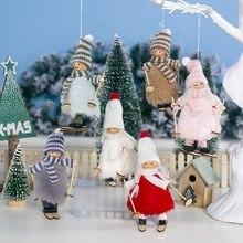 Creative Christmas Ornaments Woolen Plush Ski Girl Doll Pendant Tree Gift elf Shape