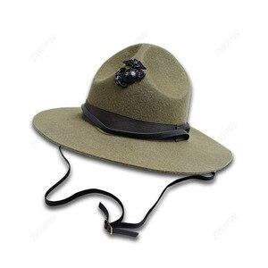 WW2 американский морской корпус, полицейский корпус, инструктор, шляпа