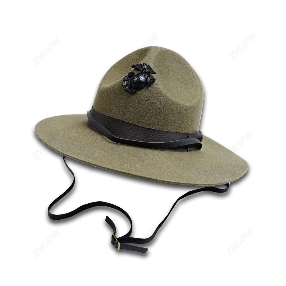 WW2 US Marine Corps Officer Cap Marine Corps Instructor Hat