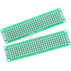 2X8 см двухсторонняя жестяная универсальная печатная плата зеленое масло универсальная доска 2X8 см 20*80 мм расстояние 2,54