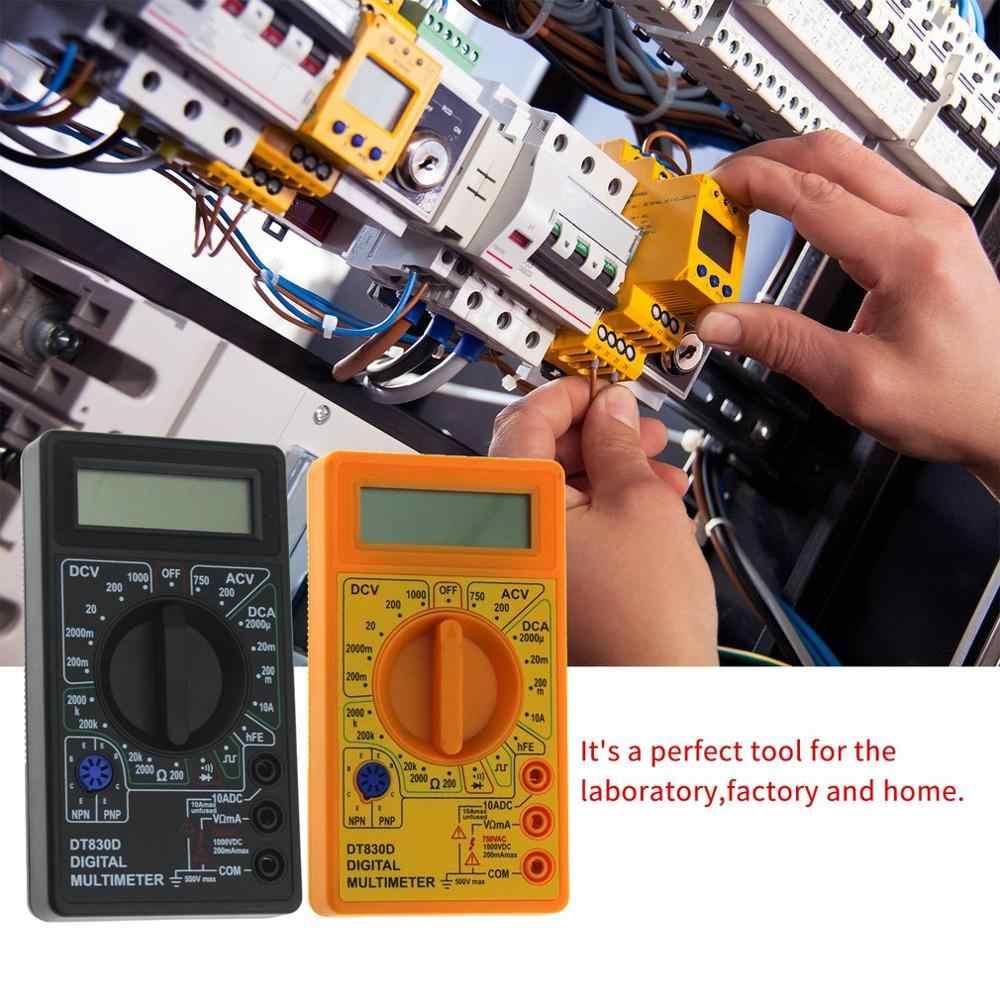 Profesjonalny multimetr cyfrowy wyświetlacz LCD 1999 zlicza DC AC woltomierz Amp Ohm dioda hFE Tester ciągłości amperomierz woltomierz