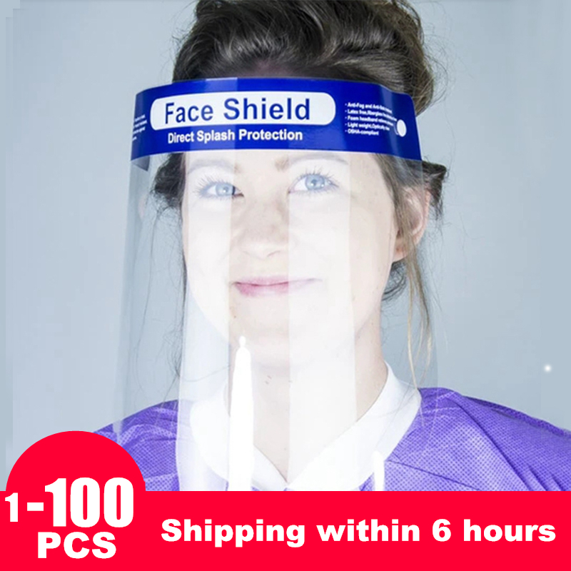 100 Piece Face Shield Mask Face Masks Dustproof Face Cover Clear Eye Waterproof Mask
