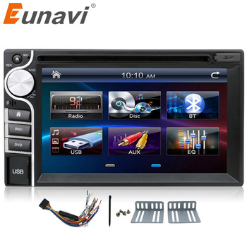 Eunavi new 2 DIN Car DVD Player Double 2din car radio stereo In Dash MP3 Head Unit CD Camera parking HD TV Video Audio usb bt image